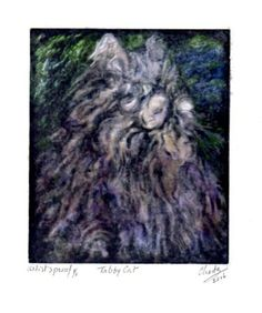 Tabby Cat. limited edition of 8 prints and 1 artist's proof