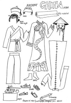 world history paper dolls | Practical Pages