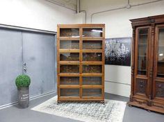 Antiques By Design - Macey Oak Double Wide Stacking Lawyer's Bookcase
