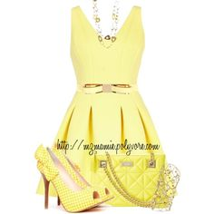"""""""Yellow:)"""" by mzmamie on Polyvore"""