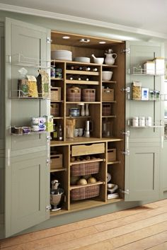 built in pantry, beautiful slate blue color … | DEKORASY…