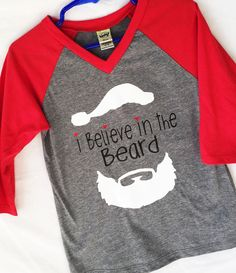 I Believe in the Beard Santa Claus Christmas Shirt Unisex (with or wit – Busy Bicycle Kids Shirts, Cool Shirts, T Shirts For Women, Christmas Shirts, Christmas Goodies, Just Love, Believe, Shirt Designs, Unisex