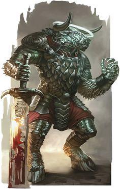 Gorgotaur (Gorgon Minotaur)