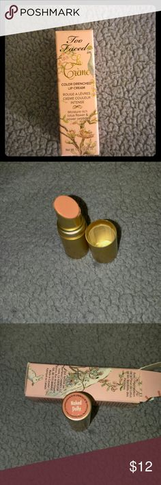 Too Faced La Creme lipstick Naked Dolly Brand new in box. Deluxe Travel size. Sephora Makeup Lipstick