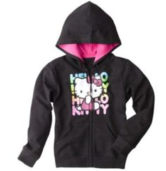 Hello Kitty Girls` Zip-Up Hoodie - Black for only $25.00 You save: $9.99 (29%) + Free Shipping