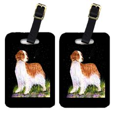 3acfd66c4a1 Starry Night Welsh Springer Spaniel Luggage Tags Pair of 2