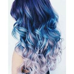 Mermaid hair colors ❤ liked on Polyvore featuring beauty products, haircare and hair color