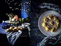 Blinis con foie gras y manzana caramelizada