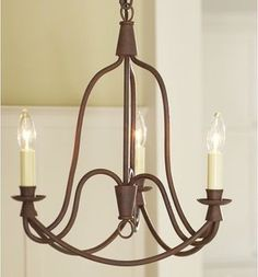 Armonk 3-Arm Chandelier - Transitional - Ceiling Lighting - by Pottery Barn