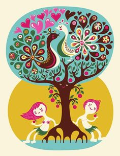 Love Garden... limited edition giclee print of an original illustration (8.5 x 11in) H. Dardik