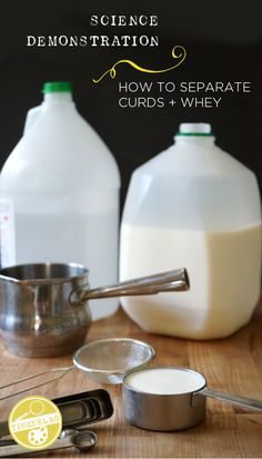 Separate curds and whey for a fun, unusual science experiment you can do at home. Science Projects For Kids, Science Crafts, Cool Science Experiments, Stem Science, Easy Science, Science Resources, Science Fair, Science Lessons, Science For Kids