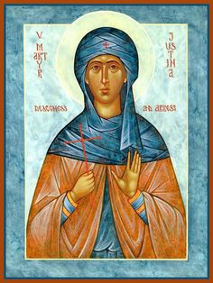 St. Justina the Deaconess & Martyr by Michael Kapeluck - October 2
