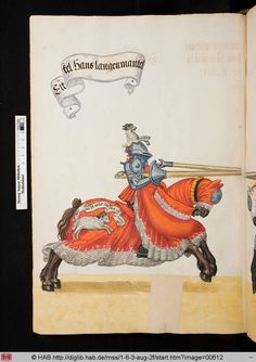 from a 16C Turnierbuch compiled for Jeremias Schemel of Augsburg = Wolfenbuettel, HAB cod. guelf 1.6.3 Aug 2o -- via the HAB website.image 612