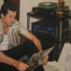 Mark Ronson ( with his set-up. Mark Ronson, Of My Life, First Love, Audio, Album, World, Instagram Posts, Men's Fashion, Channel