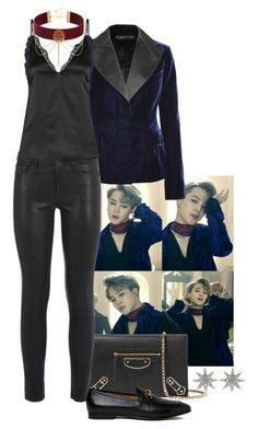 """BTS (Jimin): 'Blood Sweat & Tears' Music Video Inspired."" by foreverforbiddenromancefashion ❤ liked on Polyvore featuring Tom Ford, Balenciaga, Frame, 3.1 Phillip Lim, Gucci and Bee Goddess"
