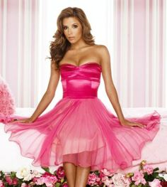 Eva Longoria In a beautiful pink dress