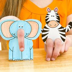 Pre-writing activities - fine motor-strengthening: play with finger puppets
