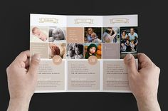 Family Photographer Trifold Brochure by BrandPacks on @creativemarket