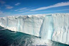 Glacial Waterfall, Svalbard Islands, Norway  photo via james