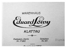 Eduard Löwy Klattau Czechoslovakia Europe