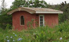 Tiny straw bale house.