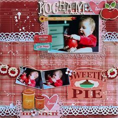 Emilcia z jabłkiem / Emily with an apple Style Scrapbook, Crate Paper, Sugar And Spice, Southern Style, Scrapbooking Layouts, Crates, Christmas Gifts, Gallery, How To Make