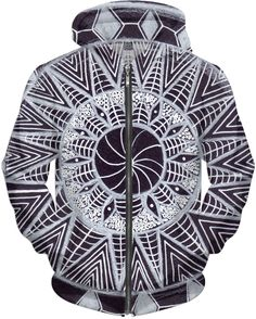$79.99 Mandala Hoodie drawn by Art by Megan Brock.