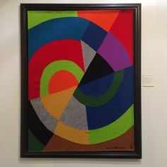 A textile piece by Sonia Delaunay at The Armory Show in NYC.  Not only was Sonia a painter, but her work crossed over to fashion, furniture and textile design.