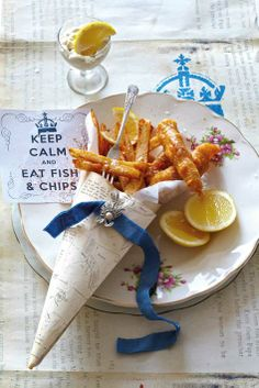 Fish in beer batter with tandoori spiced chips Fish Dishes, Seafood Dishes, Fish And Seafood, Calamari Recipes, Fish Recipes, Seafood Recipes, Yummy Recipes, Healthy Recipes, British Dishes