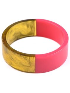 Half & Half Resin Bangle Bracelet from Adia Kibur Resin Cute Bracelets, Colorful Bracelets, Bangle Bracelets, Bangles, Resin Bracelet, Jewelry Box, Jewelery, Jewelry Watches, Resin Jewellery