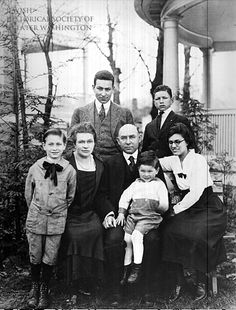 When Tina and Fred Gichner moved their family from 4 ½ Street, SW, to Cleveland Park in 1909, they were among the first Jewish families in that neighborhood. They are pictured here with their children outside their home at 3220 Highland Place, NW.