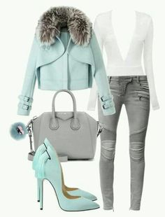 A fashion look from December 2015 by minkstyles featuring Wes Gordon, Balmain, Givenchy and Fendi Mode Outfits, Fall Outfits, Fashion Outfits, Womens Fashion, Fashion Tips, Fashion Trends, Fashion Heels, Dress Fashion, Classy Outfits