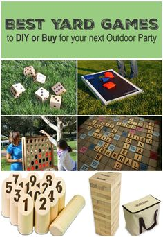 Best Yard Games for Your Next Outdoor Party - Yardzee, Giant Jenga, Connect Four, Scrabble, Corn Hole, Bocce, Giant Pong and more!