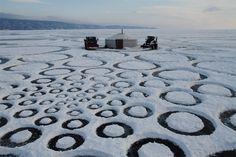 #landart #snow #landscape #art #installation #public