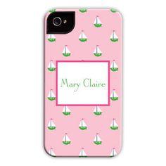 Little Sailboat Pink iPhone Hard Case