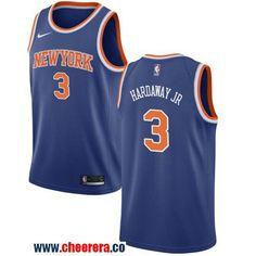 cbbe1c9bf25 Men s Nike New York Knicks  3 Tim Hardaway Jr. Blue Icon Edition NBA  Swingman