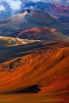 """Maui Volcano Tour  """"Colorful cinder cones within Haleakala Crater on Maui, Hawaii - Amazing and Beautiful!"""""""
