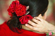 заколка для волоск с цветами ручной работы Ахмедовой Анастасии