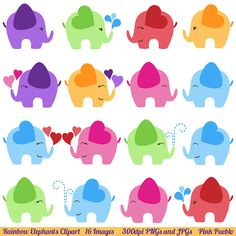Elephant Clipart, Elephant Clip Art- Commercial and Personal
