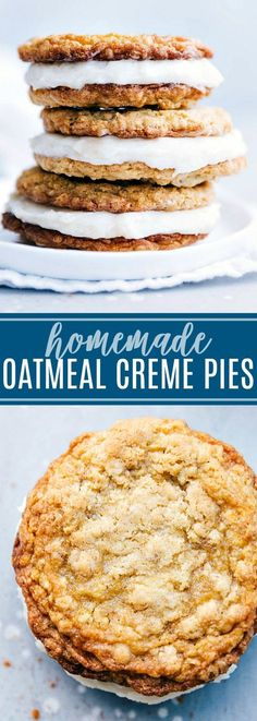 The best ever homemade OATMEAL CREME PIES! Delicious and easy to make! chelseasmessyapron.com