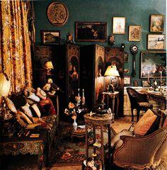 The Peak of Chic®: Iris Apfel, Visual Gourmet Rooms Home Decor, Living Room Interior, Bedroom Decor, Living Rooms, Hollywood Regency Decor, European Style Homes, Retro Room, World Of Interiors, Creature Comforts