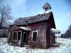 old abandoned schoolhouse Licking County Ohio.