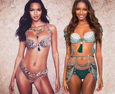 ⬅Lais Ribeiro wearing the 2017 Champagne Nights Fantasy Bra (2 Million) and Jasmine Tookes wearing the 2016 Bright Night Fantasy Bra (3 million)➡ ������ -This will be the first time in the Victoria's Secret history two black models to be wearing the VS fantasy bra two years in a row. Also Lais is is the fourth Black woman in total to be wearing a VS Fb! What can I say...I'm soooooo happy and excited about this decision and tbh Lais is probably the most deserving for a FB among the new…