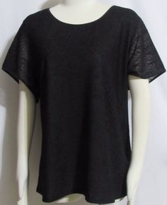 NEW Womens Ladies Plus Calvin KLEIN Black Fully Lined Lacy Cap Sleeve Top 2X  #CalvinKlein #FullyLInedLacyTop #Versatile