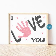 Mothers Day Crafts Preschool, Diy Mother's Day Crafts, Valentine's Day Crafts For Kids, Valentine Crafts For Kids, Fathers Day Crafts, Valentine's Day Diy, Baby Crafts, Valentines Diy, Crafts For Babies