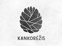 Karolis Strautniekas logo design for Kankorezis; pinecone #print #distressed