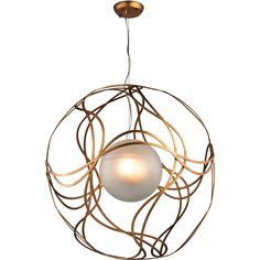 Oriona 3-Light Pendant in Antique Gold Leaf - Large | Dimond Lighting | Home Gallery Stores