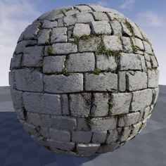 Texture of stones in Unreal Engine 4.9, Crazy Textures on ArtStation at https://www.artstation.com/artwork/5elRA