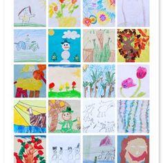 Toon de kunstwerken van je kinderen: collage // Kids Art Display: collage (Simple As That)