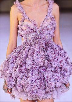 Alexander McQueen lavender fluffiness, stunning.
